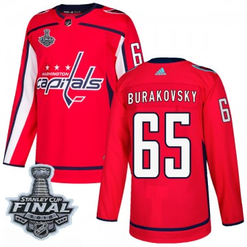 Authentic Adidas Men's Andre Burakovsky Washington Capitals Home 2018 Stanley Cup Final Patch Jersey - Red