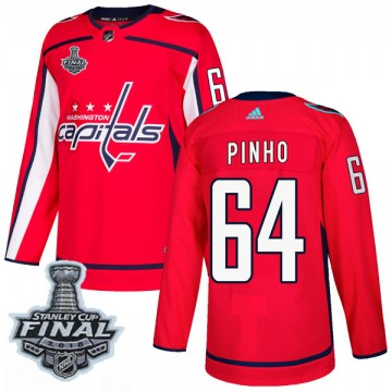 Authentic Adidas Men's Brian Pinho Washington Capitals Home 2018 Stanley Cup Final Patch Jersey - Red