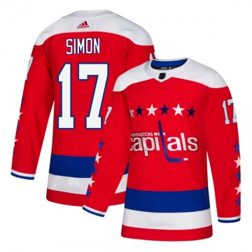 Authentic Adidas Men's Chris Simon Washington Capitals Alternate Jersey - Red