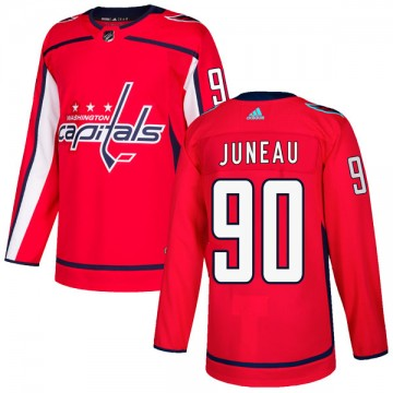 Authentic Adidas Youth Joe Juneau Washington Capitals Home Jersey - Red