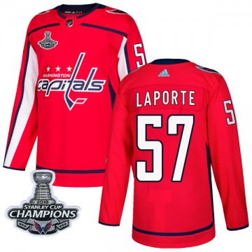 Authentic Adidas Youth Nolan LaPorte Washington Capitals Home 2018 Stanley Cup Champions Patch Jersey - Red