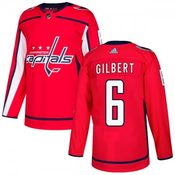 Authentic Adidas Youth Tom Gilbert Washington Capitals Home Jersey - Red
