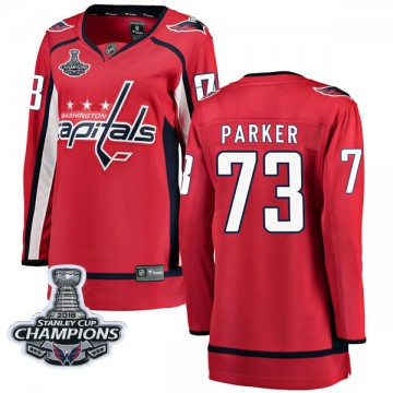 Breakaway Fanatics Branded Women's John Parker Washington Capitals Home 2018 Stanley Cup Champions Patch Jersey - Red