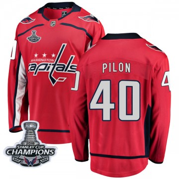 Breakaway Fanatics Branded Youth Garrett Pilon Washington Capitals Home 2018 Stanley Cup Champions Patch Jersey - Red